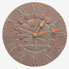 Time and Seasons Clock, COPPER VERDIGRIS