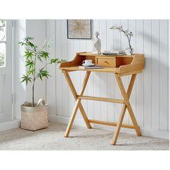 Coy Natural Folding Desk, NATURAL WASH