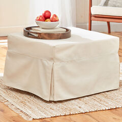 Oversized Folding Sleeper Ottoman, NATURAL