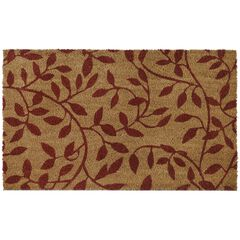 "Printed Coir Door Mat 18"" x 30"", VINES"