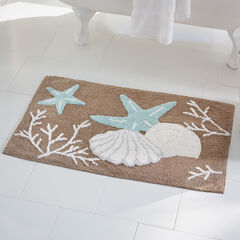 Coastal Shell Bath Mat, BROWN MULTI