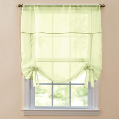 BH Studio Sheer Voile Tie-Up Shade, PEAR