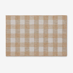 "Portofino Buffalo Plaid Indoor/Outdoor Rug 39"" x 59"", TAUPE"