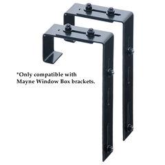 Mayne® Mayne Adjustable Deck Rail Bracket 2-Pack, BLACK