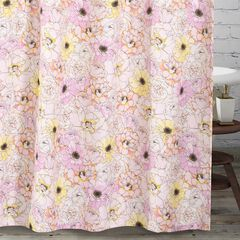 Greenland Home Misty Bloom Shower Curtain, PINK