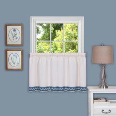 "Camden 58"" x 24"" Window Curtain Tier Pair, BLUE"