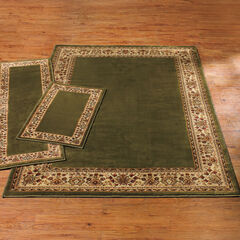 Decorative 3-Pc. Rug Set with Runner, GREEN IVORY