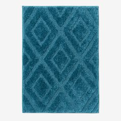 Diamond Bath Rug Collection, TEAL