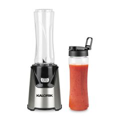 Kalorik® Personal Sport Blender with 2 Tritan Bottles, STAINLESS STEEL
