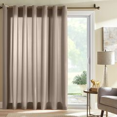 BH Studio Room-Darkening Patio Door Curtain, TAUPE