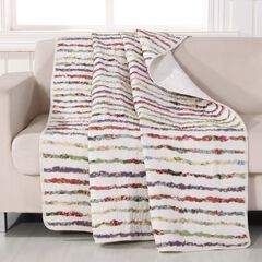 Greenland Home Fashions Bella Ruffle Quilted Throw Blanket, MULTI