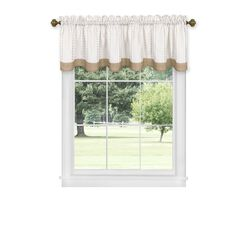 "Westport Window Curtain Valance 58"" x 14"", TAUPE"