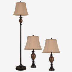 Classic Trio Lamp Set, BRONZE