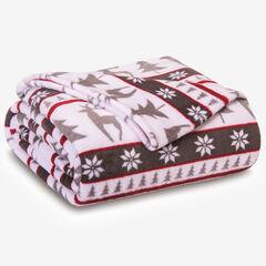 Winter Nights Plush Blanket, NORDIC TREE