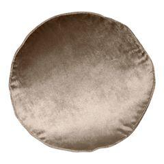 Panne Velvet Round Decorative Pillow , MUSHROOM
