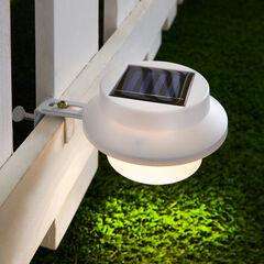 Solar LED Fence or Gutter Light, WHITE