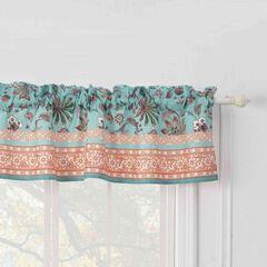 Audrey Turquoise Window Valance, TURQUOISE