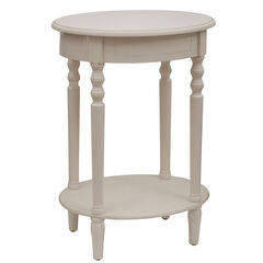 Simplify Oval Accent Table, ANTIQUE WHITE