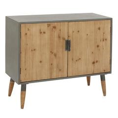 Brown Wood Modern Cabinet, 34x39x17, BROWN