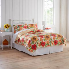 Sunflower 3-Pc. Quilt Set, YELLOW MULTI