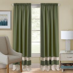 Darcy Rod-Pocket Window Curtain Panel, GREEN CAMEL