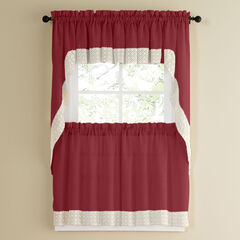 Salem Tier Curtain, BURGUNDY