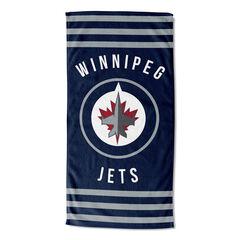Winnipeg Jets Stripes Beach Towel, MULTI