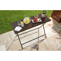 Santiago Folding Table, BROWN