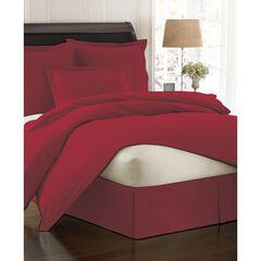Fresh Ideas Poplin Tailored Bed Skirt, MEDIUM RED