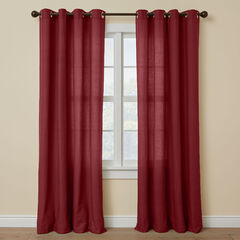 BH Studio Cotton Canvas Grommet Panel, BURGUNDY