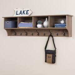 "60"" Wide Hanging Entryway Shelf, GRAY"