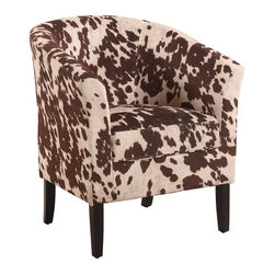 """Club Chair 19.5""""H, COW"""