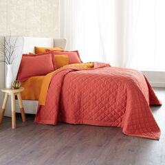 BH Studio Reversible Bedspread, TANGO PINK CLEMENTINE
