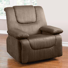 Oversized Storage Arm Recliner, TAUPE
