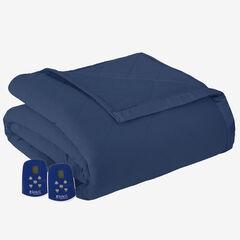 Micro Flannel® Electric Blanket, SMOKEY MOUNTAIN BLUE