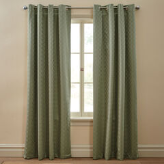 Diamond Thermal Grommet Curtain, SAGE