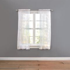 "63"" Pre-Lit Rod-Pocket Curtain Panel, WHITE"