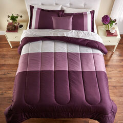 BH Studio Colorblock Comforter, PURPLE