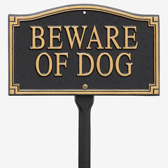 """Beware of Dog"" Statement Marker, BLACK GOLD"