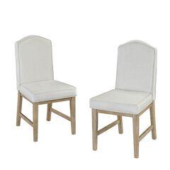 Cambridge White Pair Of Chairs, WHITE