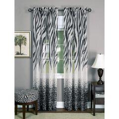 Kenya Window Curtain Panel, BLACK MULTI