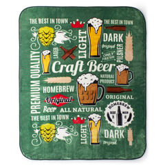 Printed Oversized Throw, BEER
