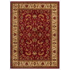 """Royalty Rug 5'2"""" x 7'2"""", RED IVORY"""