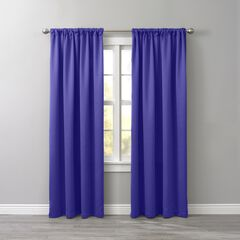 BH Studio Room-Darkening Rod-Pocket Panel, GRAPE