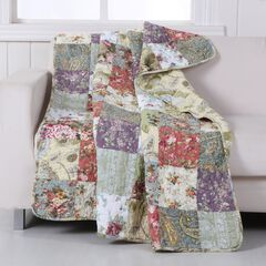 Greenland Home Fashions Blooming Prairie Patchwork Quilted Throw Blanket, MULTI