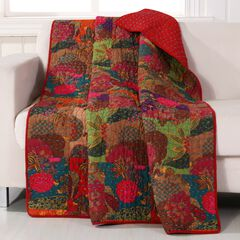Greenland Home Fashions Jewel Quilted Throw Blanket, MULTI