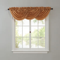 BH Studio Crushed Taffeta Waterfall Valance, GOLD