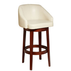 Nina Swivel Bar Stool, ECRU