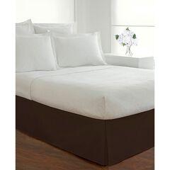 "Luxury Hotel Classic Tailored 14"" Drop Chocolate Bed Skirt, DARK BROWN"