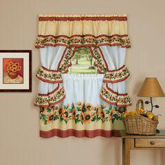 Black Eyed Susan Cottage Window Curtain Set, SPICE